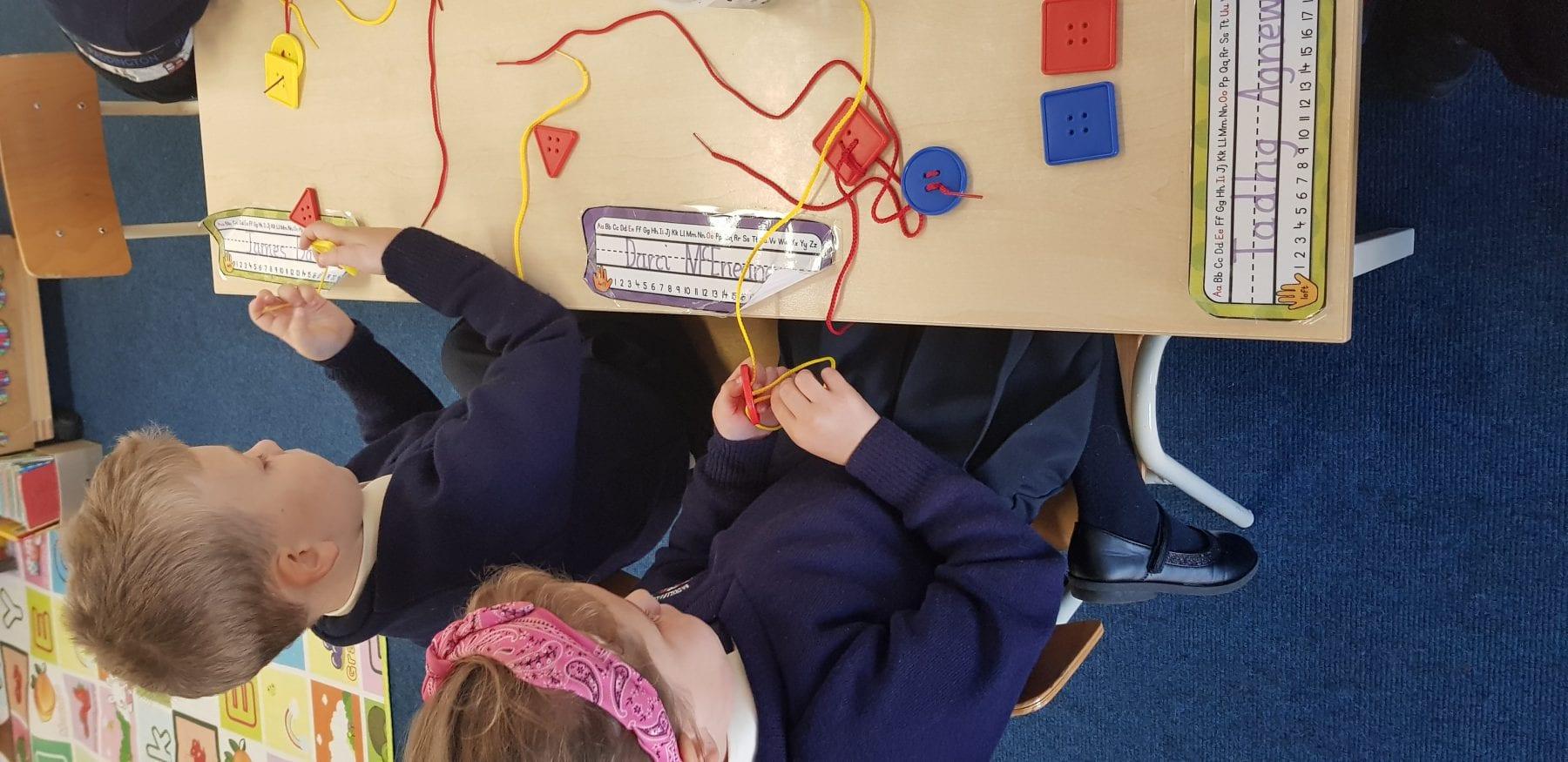 Station work in Junior Infants
