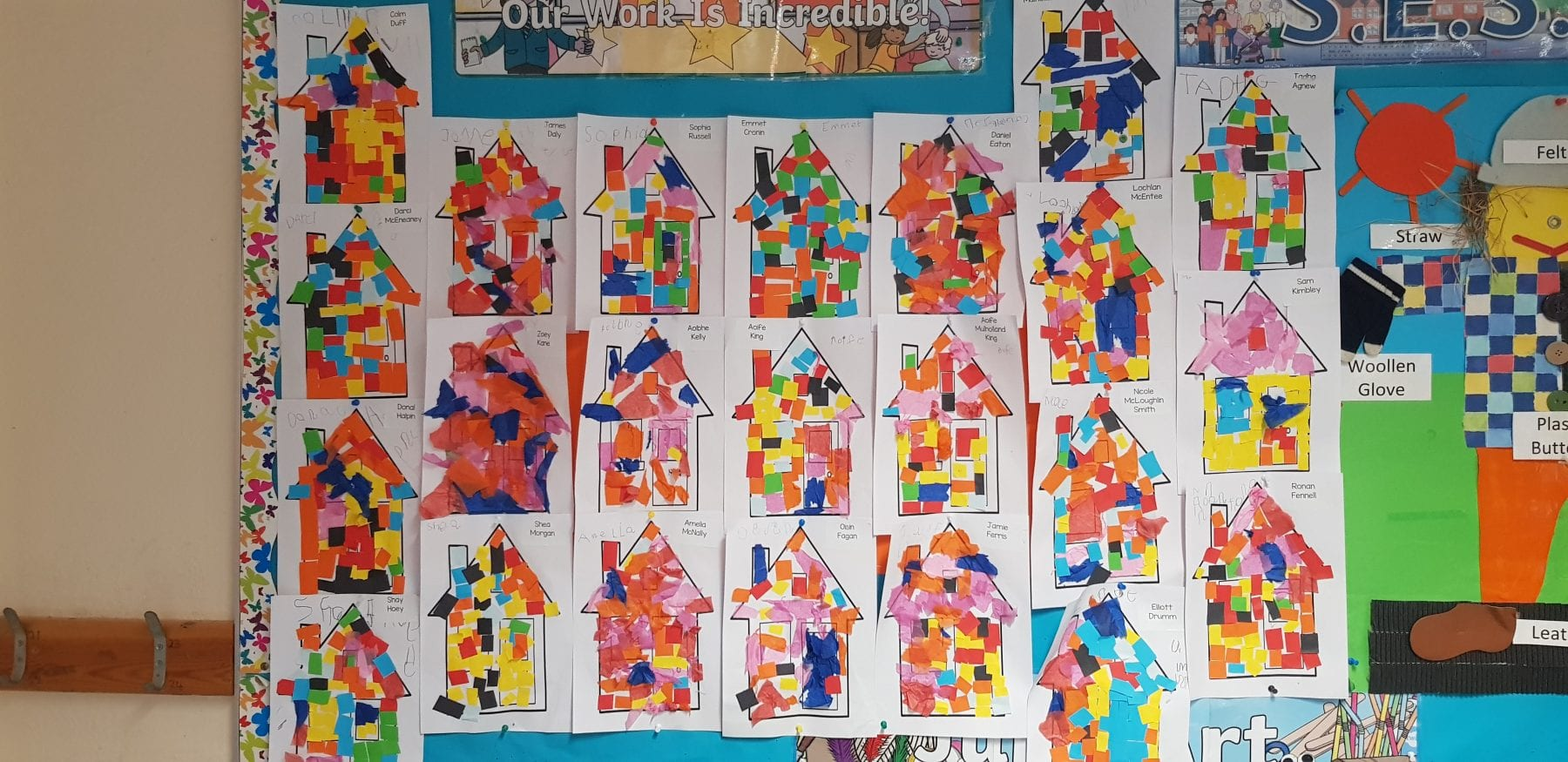 November Art in Junior Infants