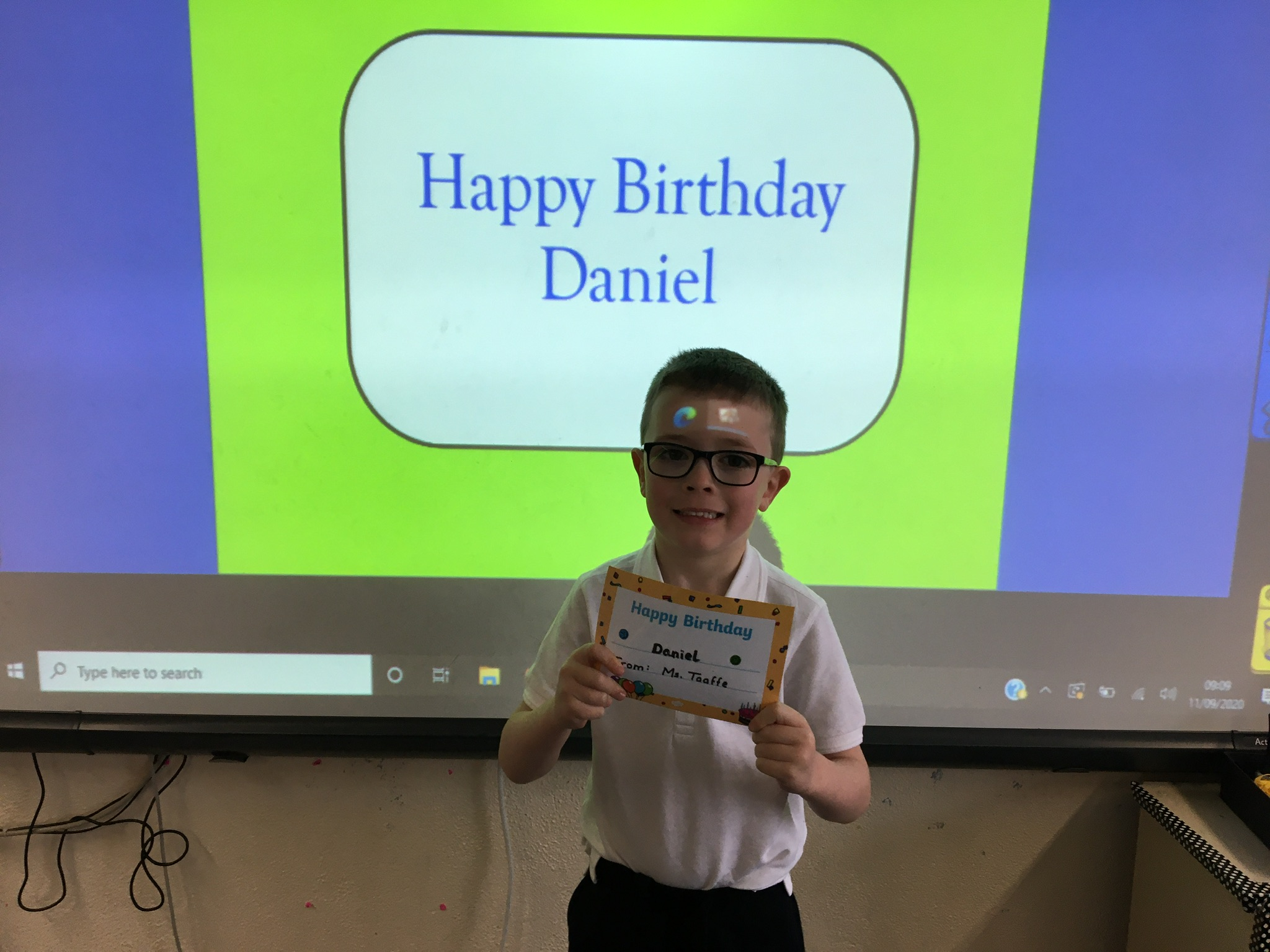 Happy Birthday Daniel.
