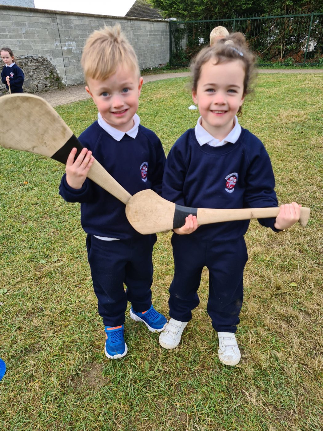 Junior Infants love Hurling!